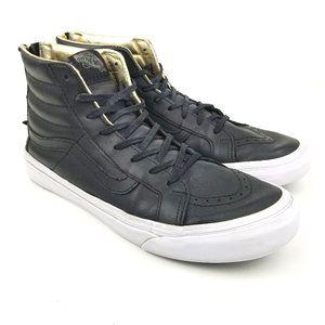Vans SK8 Hi Slim Zip Skate Shoes Hi Top Leather